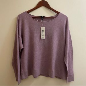NWT Eileen Fisher Cropped Texture Ballet-Neck